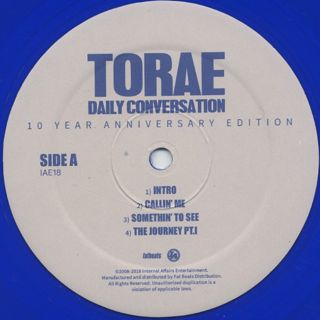 Torae / Daily Conversation - 10 Year Anniversary Edition label