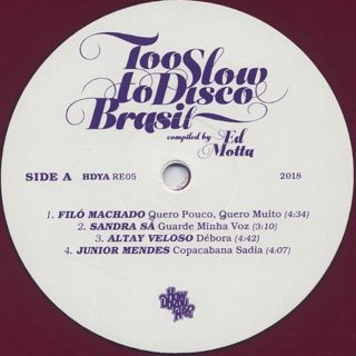 V.A. / Too Slow Too Disco compiled by Ed Motta label