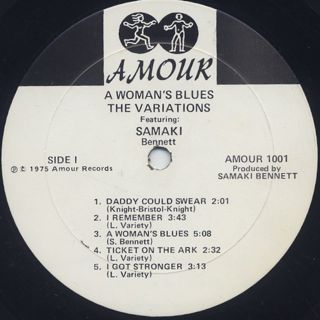 Variations / A Woman's Blues label