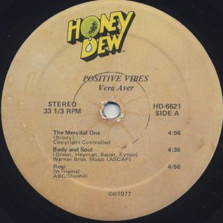 Vera Auer Quintet / Positive Vibes label