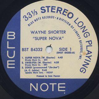 Wayne Shorter / Super Nova label