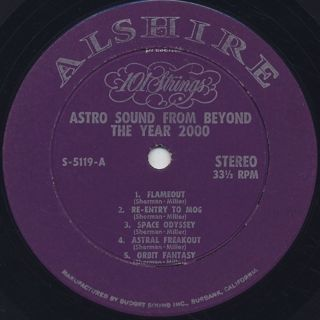 101 Strings / Astro-Sounds From Beyond The Year 2000 label