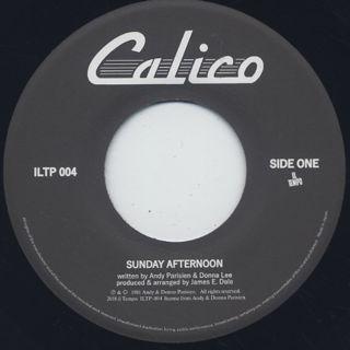Calico / Sunday Afternoon c/w Say Goodbye back