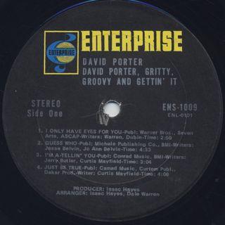 David Porter / Grity, Groovy, & Gettin' It label