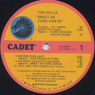 Dells / Sweet As Funk Can Be label