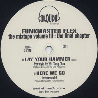 Funkmaster Flex / 60 Minutes Of Funk Vol. III - The Final Chapter label