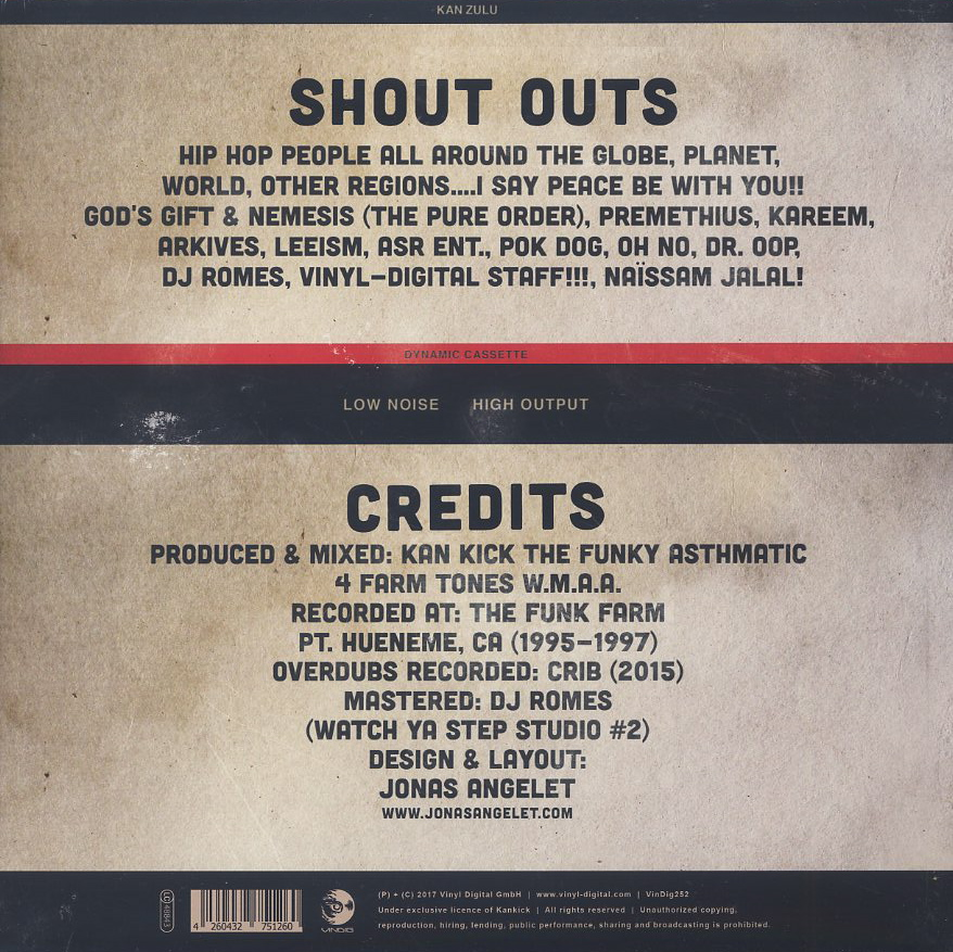 Kan Zulu / Kan Cassette Vol. 1 back