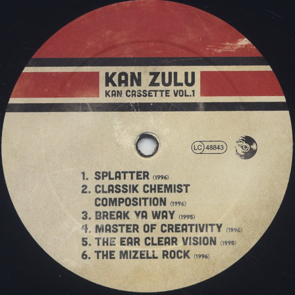 Kan Zulu / Kan Cassette Vol. 1 label