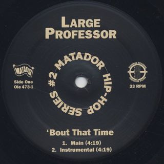 Large Professor / Bout That Time label