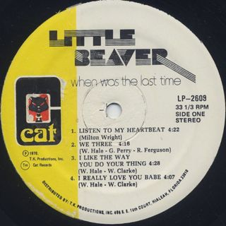 Little Beaver / When Was The Last Time label
