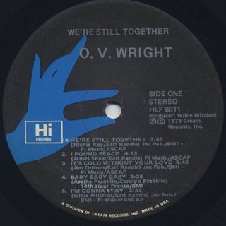 O.V. Wright / We're Still Together label