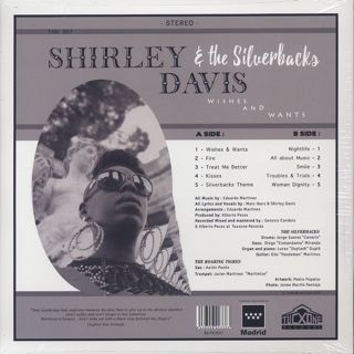 Shirley Davis & The Silverbacks / Wishes & Wants back