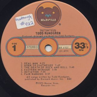 Todd Rundgren / Initiation label