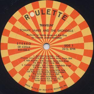 Tommy James & The Shondells / Travelin' label