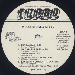 Wood, Brass & Steel / S.T. label