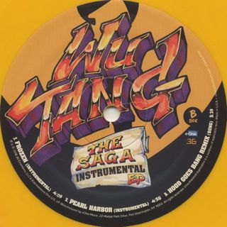 Wu-Tang Clan / The Saga Instrumental EP label