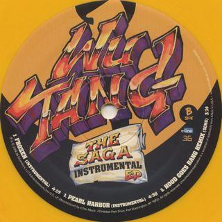 Wu-Tang Clan / The Saga Instrumental EP label