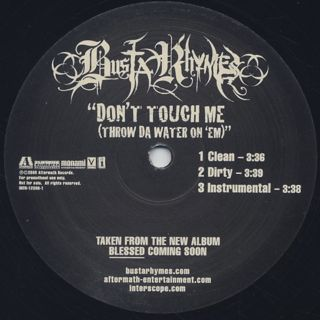 Busta Rhymes / Don't Touch Me back
