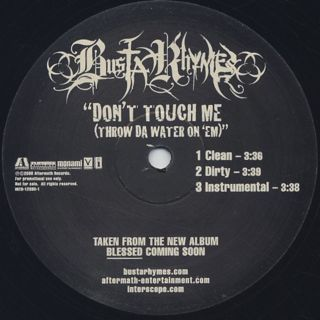 Busta Rhymes / Don't Touch Me label
