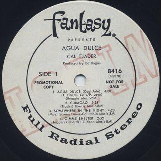 Cal Tjader / Agua Dulce label