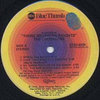 Crusaders / Those Southern Knights label