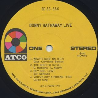 Donny Hathaway / Live label