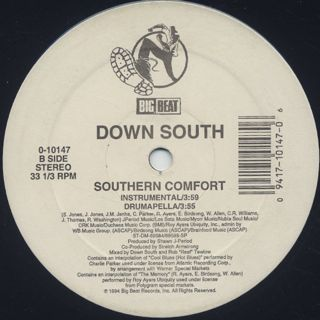 Down South / Southern Comfort back