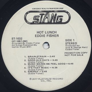 Eddie Fisher / Hot Lunch label