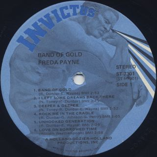 Freda Payne / Band Of Gold label