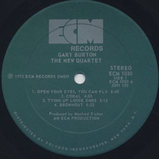 Gary Burton / The New Quartet label