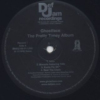 Ghostface / The Pretty Toney Album label