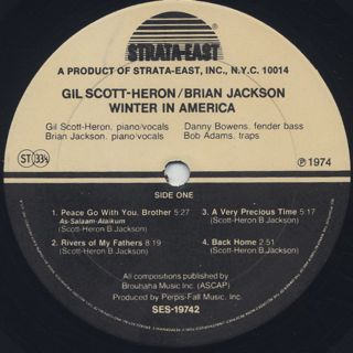 Gil Scott-Heron/Brian Jackson / Winter In America label