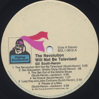 Gil Scott-Heron / The Revolution Will Not Be Televised label