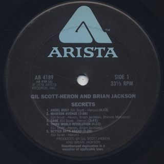 Gil Scott-Heron and Brian Jackson / Secrets label