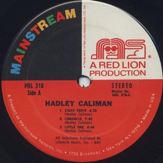 Hadley Caliman / S.T. label
