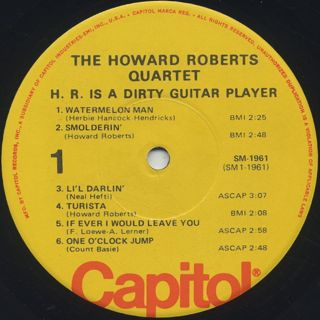 Howard Roberts Quartet / H.R. Is A Dirty Guitar Player! label
