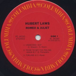 Hubert Laws / Romeo And Juliet label