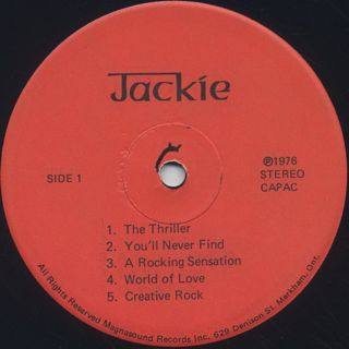 Jackie Mitto / The Keyboard King label