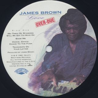 James Brown / Love Over-Due label