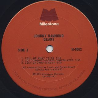 Johnny Hammond / Gears label
