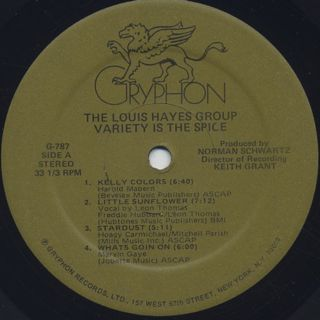 Louis Hayes Group / Variety Is The Spice label