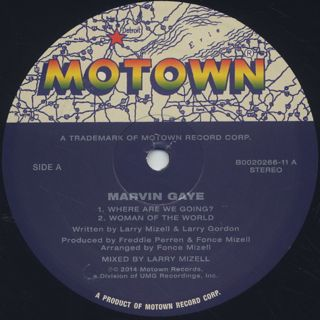 Marvin Gaye / Where Are We Going? label
