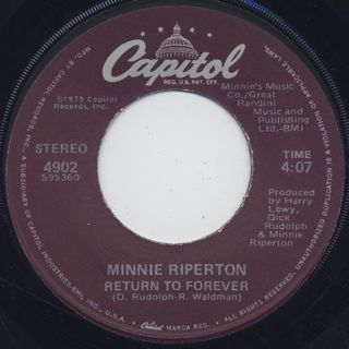 Minnie Riperton / Here We Go c/w Return To Forever back