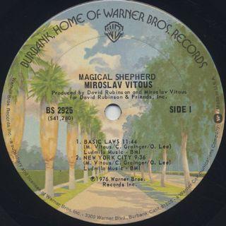 Miroslav Vitous / Magical Shepherd label