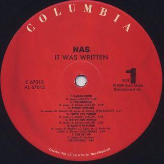 Nas / It Was Written label