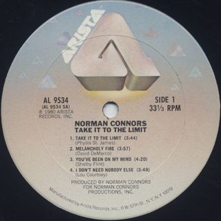 Norman Connors / Take It To The Limit label
