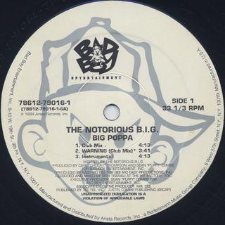Notorious B.I.G. / Big Poppa label