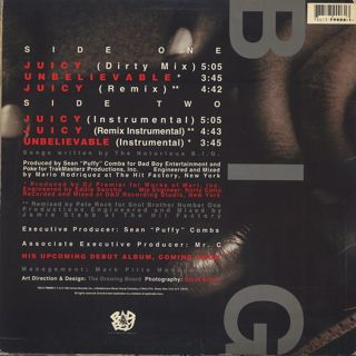 Notorious B.I.G. / Juicy back