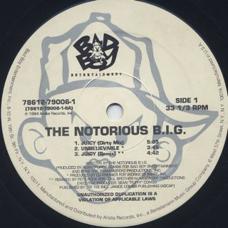 Notorious B.I.G. / Juicy label