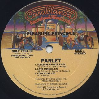 Parlet / Pleasure Principle label